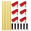 Kit de poteaux de délimitation Sport-Thieme® « Allround », Poteau jaune, fanion rouge-blanc