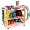 Kit Sport-Thieme® pour jardins d'enfants et maternelles, Avec chariot de rangement