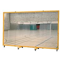 Fahrbare Spiegelwand 300x180 cm