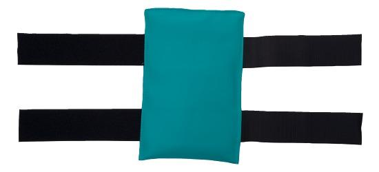 Gymnastik-Sandsack Mit Klettband, 1 kg, 25x15 cm