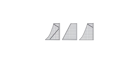Knotenlose Herrenfussball-Tornetze mit Schachbrettmuster Grün-Weiss
