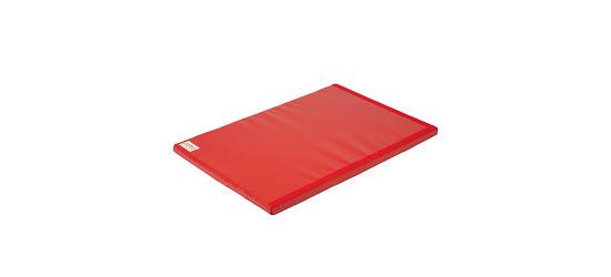 Reivo Tapis de gymnastique combinable « Sécurité » Polygrip rouge, 150x100x6 cm