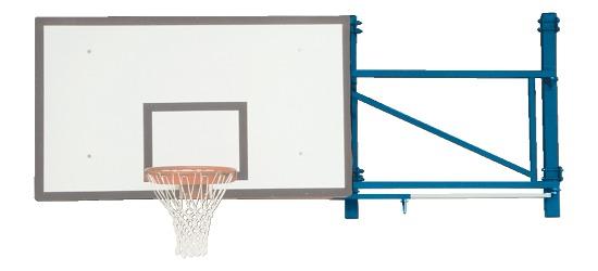 Sport-Thieme Basketball-Wandgerüst schwenkbar Ausladung 170 cm, Betonwand