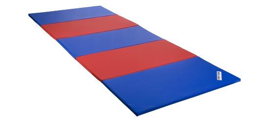 Sport-Thieme Tapis pliable 300x120x3 cm, Bleu-rouge