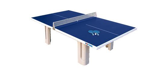 Table Sport-Thieme® en béton polymère « Pro »  Bleu