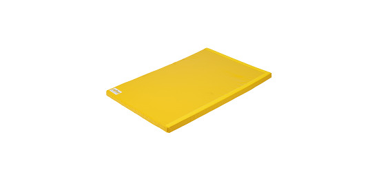 Tapis de gymnastique combinable Reivo® « Sécurité » Polygrip jaune, 200x100x8 cm