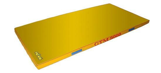Tapis de sortie d'appareil Sport-Thieme®  «GTM 3000» 200x100x6 cm, 17 kg, Jaune