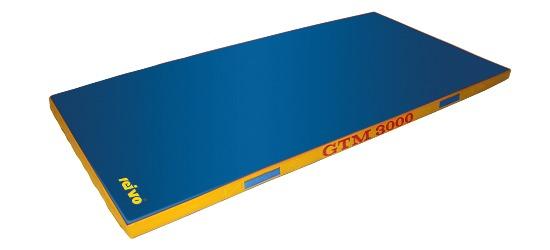 Tapis de sortie d'appareil Sport-Thieme®  «GTM 3000» 200x100x8 cm, 22 kg, Bleu