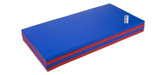 Tapis pliant Sport-Thieme® 240x120x3 cm, Bleu-rouge