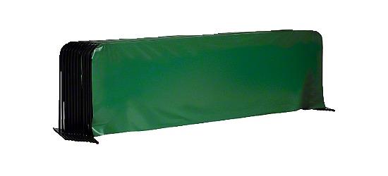 Tischtennis-Spielfeldumrandung 10er Set Ohne Sport-Thieme Aufdruck, Grün