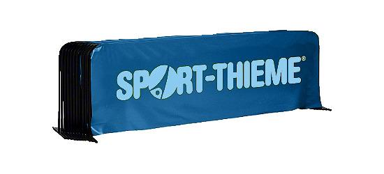 Tischtennis-Spielfeldumrandung 10er Set Mit Sport-Thieme Aufdruck, Blau