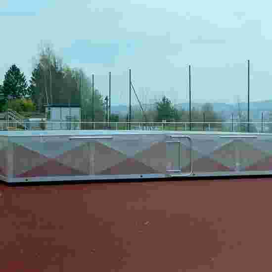Abris roulant pour sautoir de saut en sauteur 400x250x50 cm