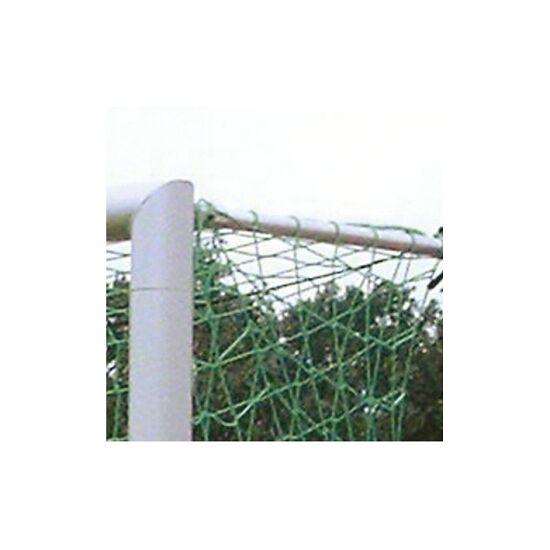 Alu-Fussballtor, 7,32x2,44 m, verschraubte Gehrung, in Bodenhülsen stehend Mattsilber eloxiert