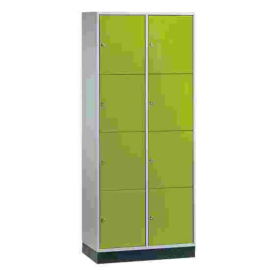 Armoire à casiers « S 4000 Intro » (4 casiers superposés) 195x82x49 cm/ 8 compartiments, Vert viride (RDS 110 80 60)