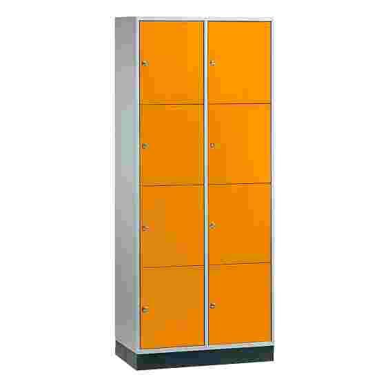 Armoire à casiers « S 4000 Intro » (4 casiers superposés) 195x82x49 cm/ 8 compartiments, Orangé jaune (RAL 2000)