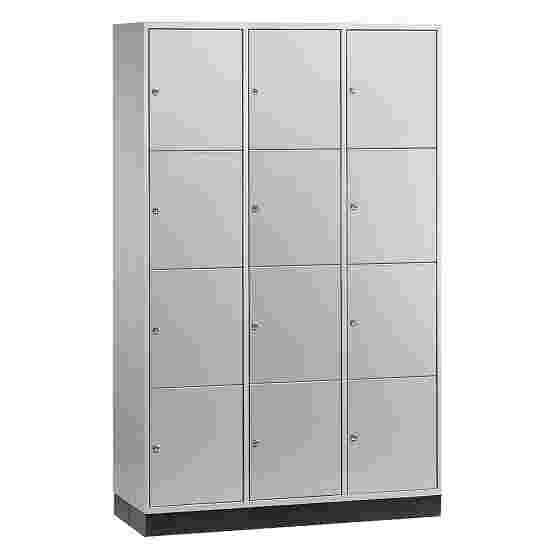 Armoire à casiers « S 4000 Intro » (4 casiers superposés) 195x122x49 cm/ 12 compartiments, Gris clair (RAL 7035)