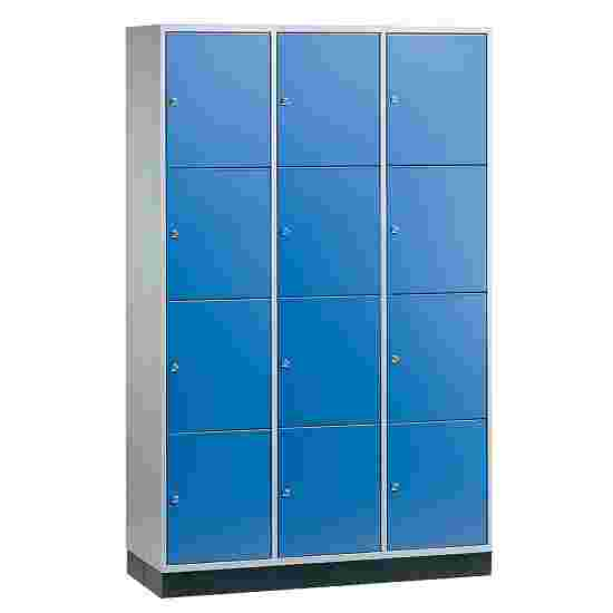Armoire à casiers « S 4000 Intro » (4 casiers superposés) 195x122x49 cm/ 12 compartiments, Bleu gentiane (RAL 5010)