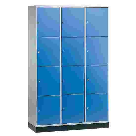 Armoire à casiers « S 4000 Intro » (4 casiers superposés) 195x122x49 cm/ 12 compartiments, Bleu gentiane (RAL 5010)