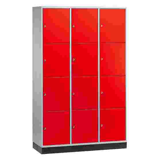 Armoire à casiers « S 4000 Intro » (4 casiers superposés) 195x122x49 cm/ 12 compartiments, Rouge feu (RAL 3000)