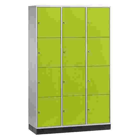 Armoire à casiers « S 4000 Intro » (4 casiers superposés) 195x122x49 cm/ 12 compartiments, Vert viride (RDS 110 80 60)