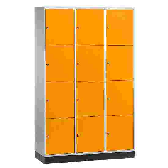 Armoire à casiers « S 4000 Intro » (4 casiers superposés) 195x122x49 cm/ 12 compartiments, Orangé jaune (RAL 2000)