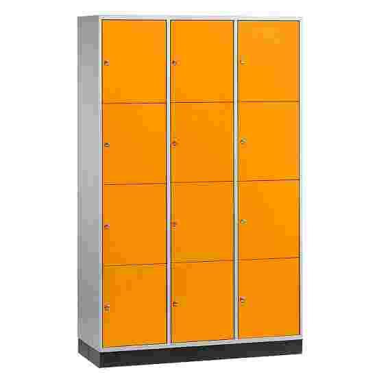 Armoire à casiers « S 4000 Intro » (4 casiers superposés) 195x122x49 cm/ 12 compartiments, Orangé jaune (RAL 2000)