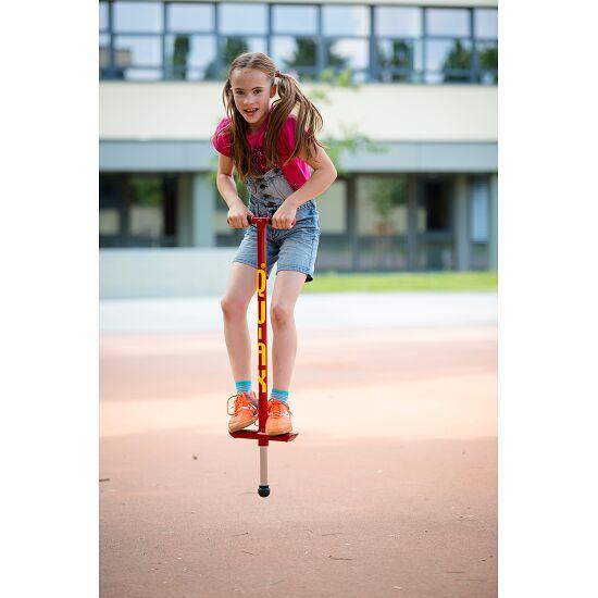 Bâton sauteur Qu-Ax® Pogo-Stick Rouge, L : 98 cm, jusqu'à 30 kg