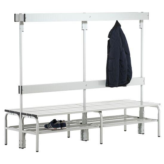 Banc de vestiaire Sypro Wolf® pour espaces mouillés avec dossier double 2,00 m, Avec grille à chaussures