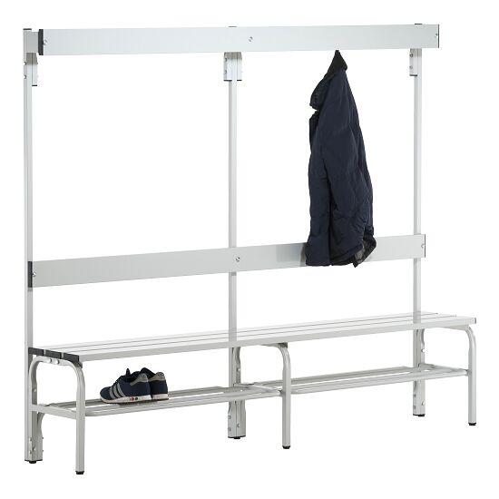 Banc de vestiaire Sypro Wolf® pour espaces mouillés avec dossier 2,00 m, Avec grille à chaussures