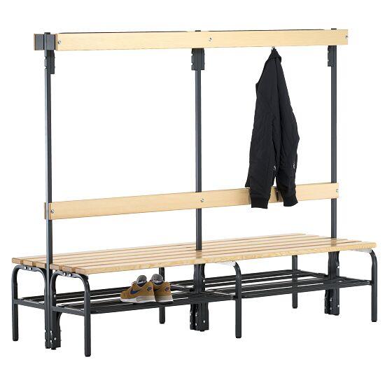 Banc de vestiaire Sypro Wolf® pour espaces secs avec dossier double 2,00 m, Avec grille à chaussures