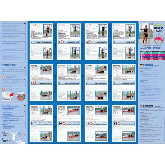 Bande de fitness Sport-Thieme® 75 2 m x 7,5 cm, Vert = facile
