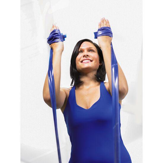 Bande Thera-Band® 250 cm avec tube de rangement Bleu, très difficile