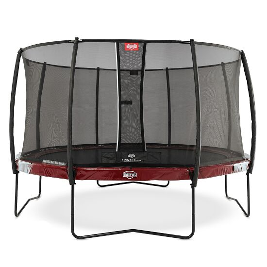 berg trampolin elite mit sicherheitsnetz deluxe. Black Bedroom Furniture Sets. Home Design Ideas