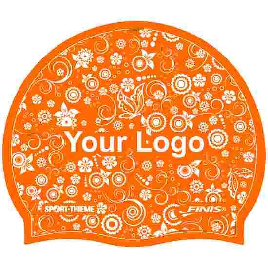 Bonnet de bain imprimé en latex Orange, Recto