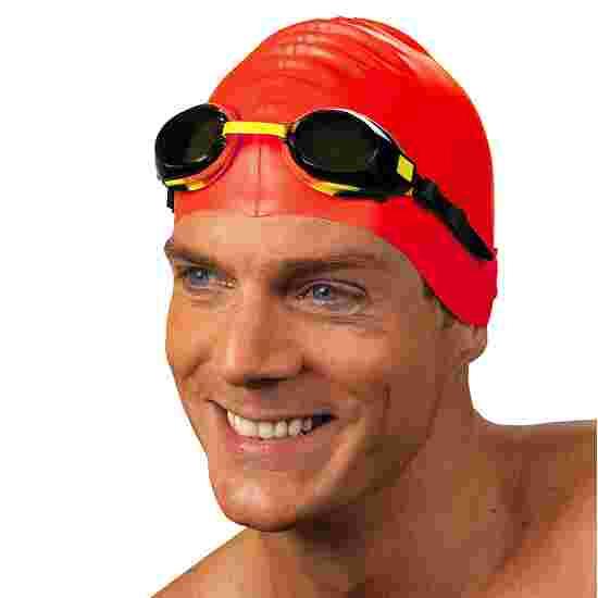 Bonnet de natation en latex Rouge