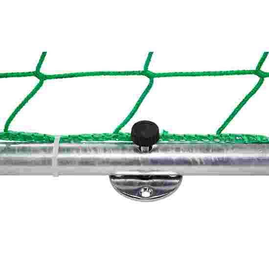 But de handball en salle Sport-Thieme 3x2 m, autostable avec angles d'assemblage brevetés Avec supports de filet rabattables, Noir-argent