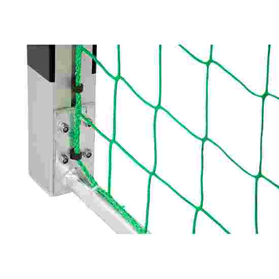 But de handball en salle Sport-Thieme 3x2 m, autostable avec angles d'assemblage brevetés Avec supports de filet autostables, Noir-argent