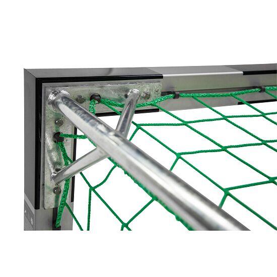 But de handball en salle Sport-Thieme® 3x2 m, avec fourreaux Angles d'assemblage vissés, Noir-argent