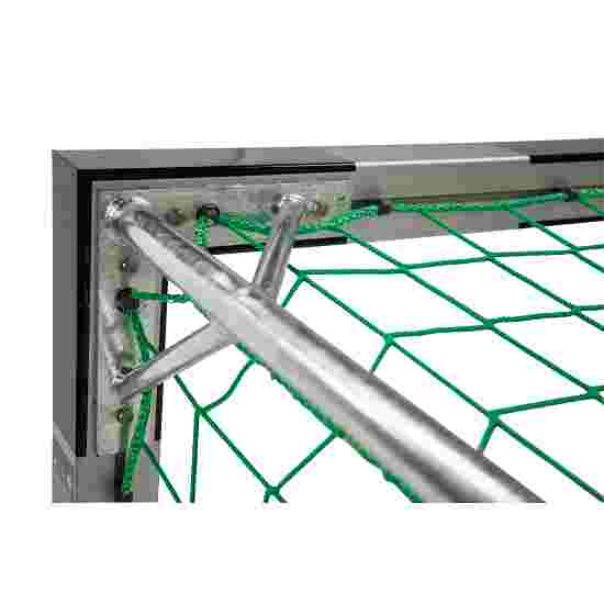 But de handball en salle Sport-Thieme 3x2 m, avec fourreaux Angles d'assemblage vissés, Noir-argent