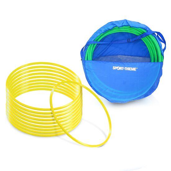 Cerceaux de gymnastique Sport-Thieme Kit de cerceaux de gymnastique ø 60 cm avec sac de rangement Jaune