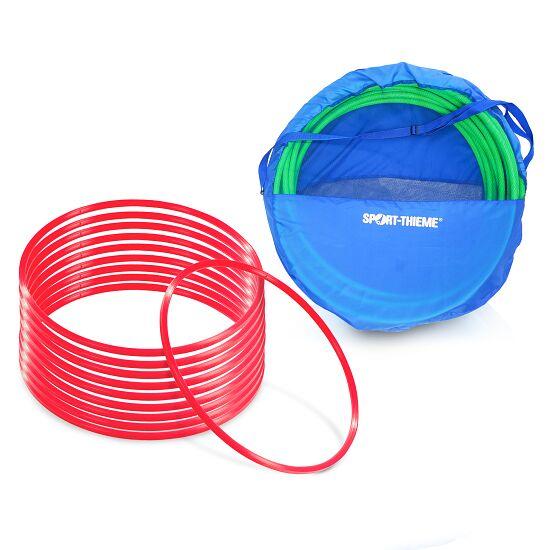 Cerceaux de gymnastique Sport-Thieme Kit de cerceaux de gymnastique ø 60 cm avec sac de rangement Rouge