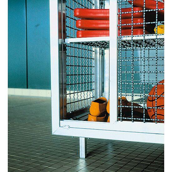 Chariot-armoire de piscine Avec pieds, 148x165x62 cm