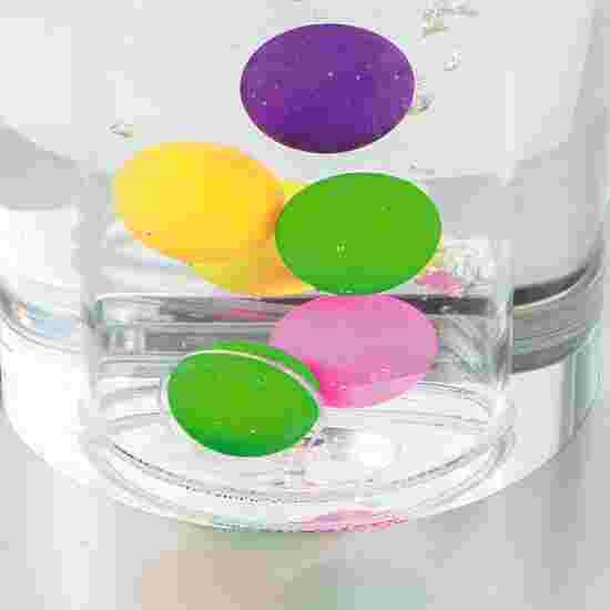 Colonne à bulles et petites balles, autostable