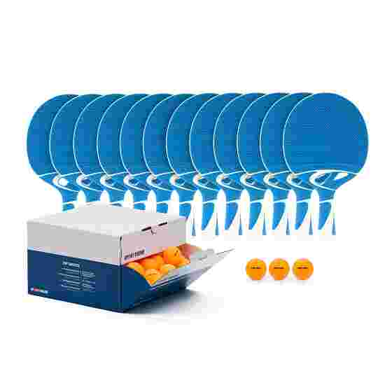 Cornilleau Kit de raquettes de tennis de table « Tacteo 30 Outdoor » Balles orange