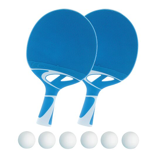 """Cornilleau Tischtennisschläger-Set """"Tacteo 30"""" Bälle Weiss"""