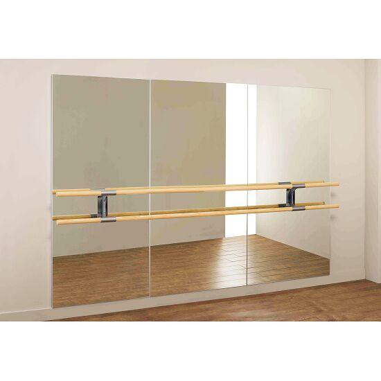 Dinamica Ballet Miroir de danse « Amadeus » Barre double de 3 m et 2 supports, 3,00x2,00 m