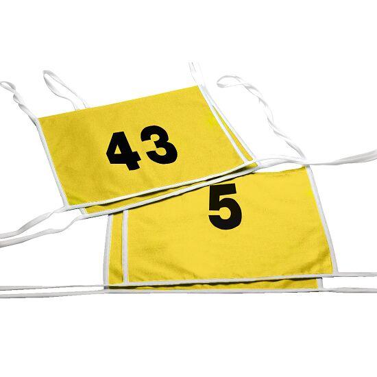 Double dossard Numéros à 1 ou 2 chiffres, jaune