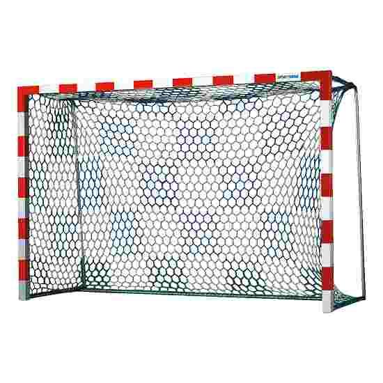 Filet pour but de handball avec motif échiquier Blanc-bleu