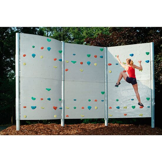 Frei stehende Boulderwand mit Schieferplattenstruktur 3 Elemente - ca. 22 m²