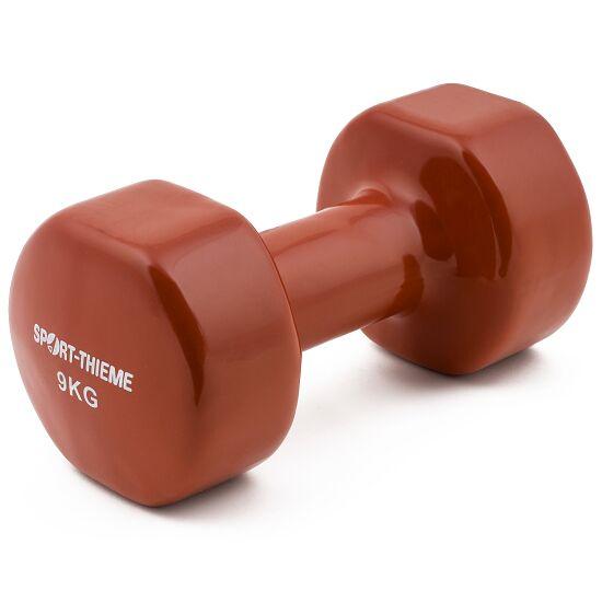 Haltères courts Sport-Thieme® Vinyle 9 kg, marron